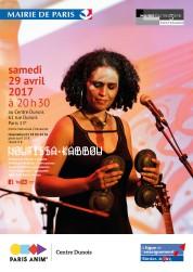 Affiche du concert au Centre Dunois 29/04/2017