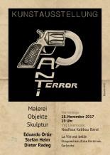Concert de Noufissa Kabbou au vernissage de l'exposition d'Eduardo Ortiz, Stefan Heim et Dieter Radeg, le 18 novembre 2017