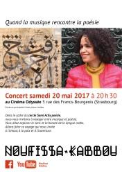 Affiche du concert à l'Odyssée 20/05/2017