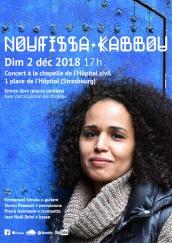 Noufissa Kabbou à la chapelle de l'Hôpital civil Strasbourg 02/12/2018