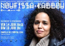 Noufissa Kabbou en concert à Strasbourg 14 et 16/06/2019